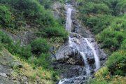 Water fall along Eklutna Lake UTV Tour
