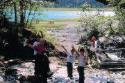 family fun at Eklutna Lake