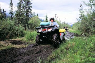 Muddy ATV ride on Turnagain Arm, Alaska