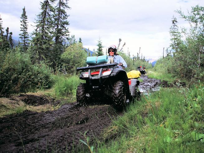Muddy ATV ride on Turnagain Arm, Alaska